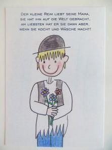 Der kleine Reim Postkarte - Zum Muttertag