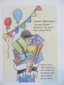 Der kleine Reim Postkarte - Zum Geburtstag